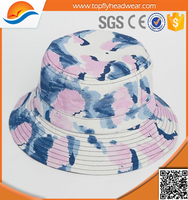 custom tie dyed floral printing women bucket hats