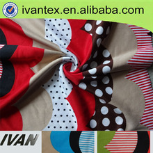 100% polyester interlock print fabric