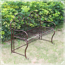 custom brown metal iron garden bench patio furniture for sale