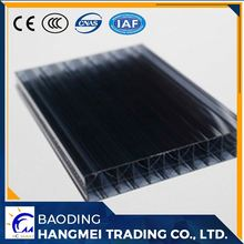 100% makrolon PC resin unbreakable uv coated colored triple wall pc polycarbonate roofing sheet
