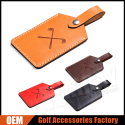Custom Made Luxury Leather Golf Bag Tags / Golf Bag Parts