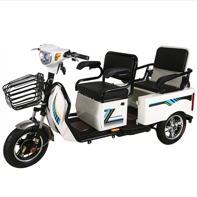 battery loading electric tricycle 3 wheel e-motorcycle for old people