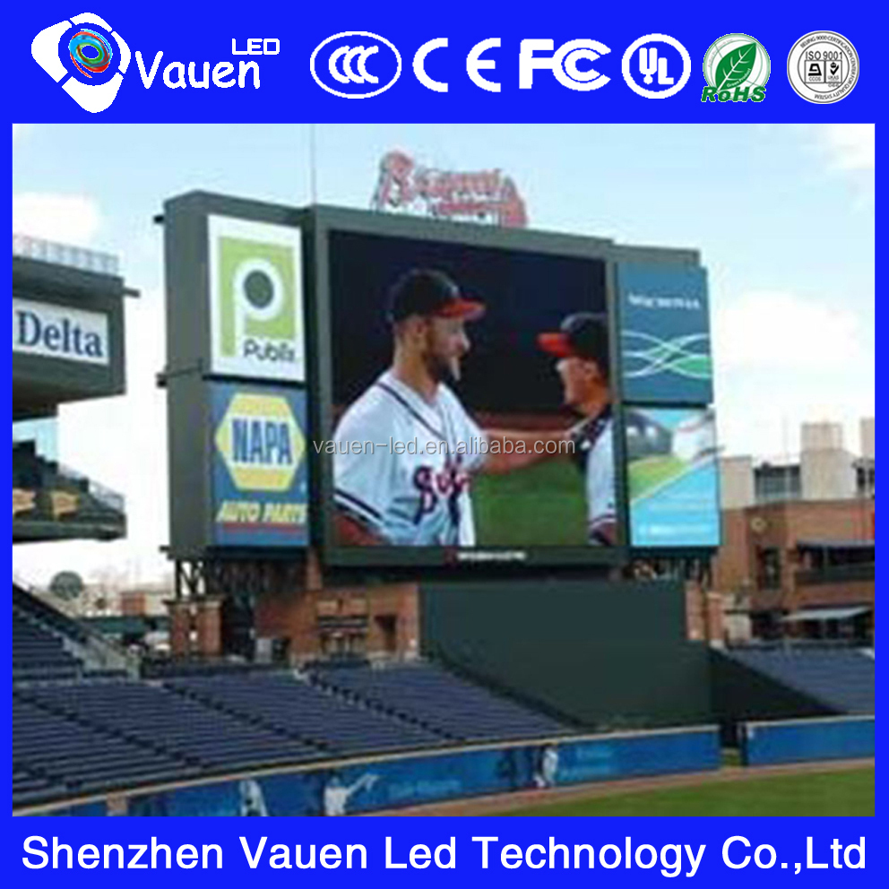 2015 hot sale stadium perimeter led display/full color P10 outdoor led screen