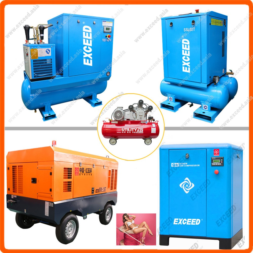 Screw or piston & diesel or electric & oil free silent 8 bar air compressor