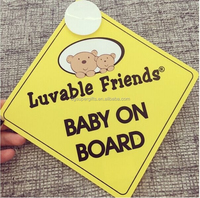 plastic luvable friends baby on board safety sign car decal / sticker bumper