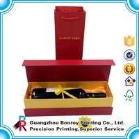 Custom Red Color Cardboard wine 5 liter Gift Box Printing wholesale