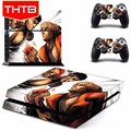 New arrival fashion design skin sticker for ps4 console vinyl decal