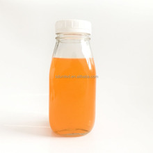 300ml french square juice glass bottle