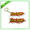 hockey puck key chain keyring