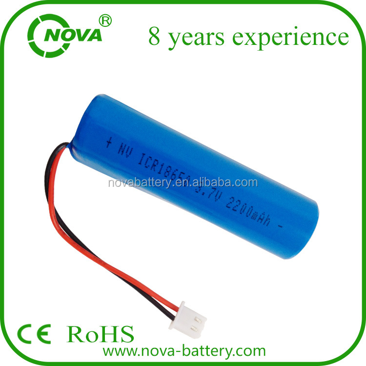 rechargeable li ion battery 18650 3.7v 2200mah