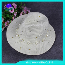 New products 2017 fashion Panama sun hat women stock white straw hat