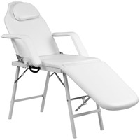 "72"" Portable Tattoo Parlor Spa Salon Facial Bed Beauty Massage Table Chair White"