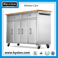 kitchen cart with cabinet