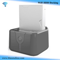multi function hdd docking station driver 2.5 & 3.5 all in 1 hard drive wifi hdd docking