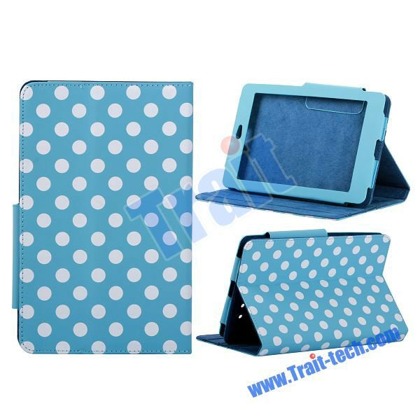 Factory Price ! Hot sell Magnetic Flip Polka Dots Stand Leather Case For ASUS Google Nexus 7 Cover, various color