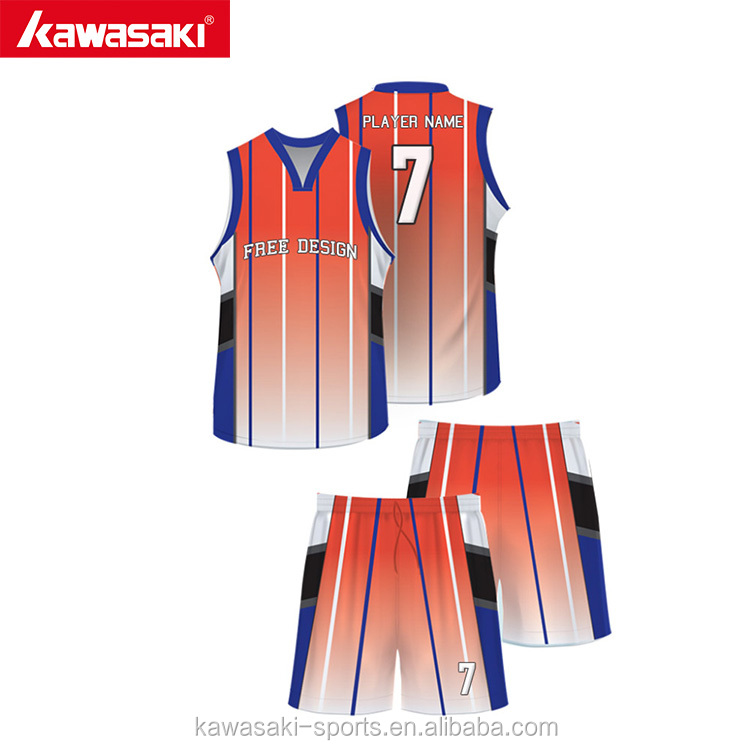 Kawasaki market popular reversible college basketball uniform designs