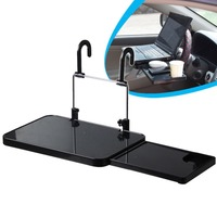 Creative design car Steering wheel and Back seat laptop folding table with cup holder