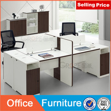 Open desk with acrylic screen for 4 person seat using medern design
