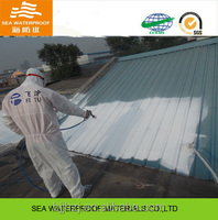 Plant metal roof coating with function waterproof and insulation