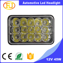 2016 new arrival sealed beam led headlight 45W 55W 5INCH 7inch 10-60V LED truck drivng headlight with high low beam