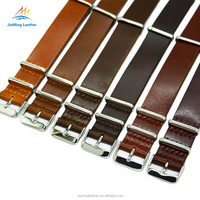 High-End Handmade Leather NATO Watchband 20MM