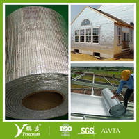 Aluminum foil backed EPE foam exterior insulation board
