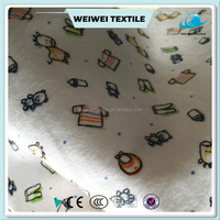 hot Custom new design high quality digital reactive printed 100% cotton flannel fabric for baby bedding sets