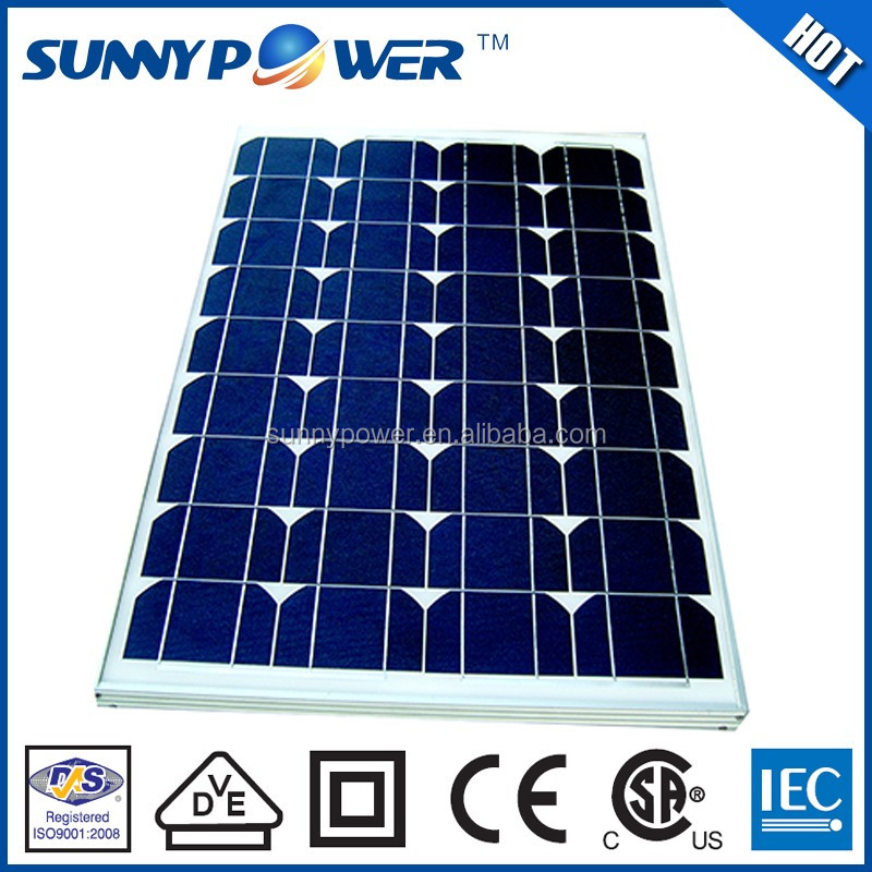VDE Approved 50w portable solar panel with CSA(UL1703)