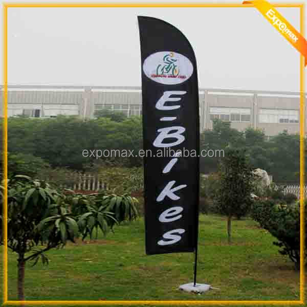 best sale outdoor high quality flex feather flag pole/ flag banner with low price
