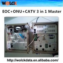 2016 Hot <strong>network</strong> products WK-EM03 Epon FTTH Fiber and CATV solution EOC+ONU +CATV module 3in 1 EOC Master