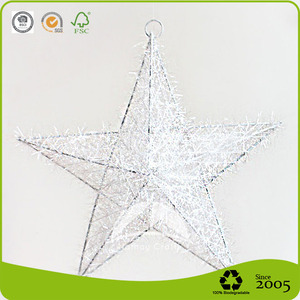 Xmas metal hanging star for Christmas holiday decoration and gifts