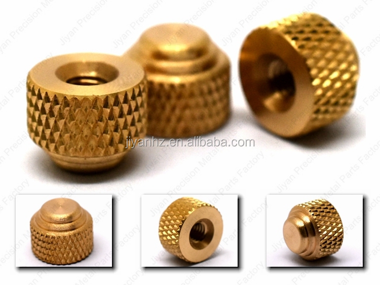 brass screw caps round knurled nuts inside/ full/ half threaded