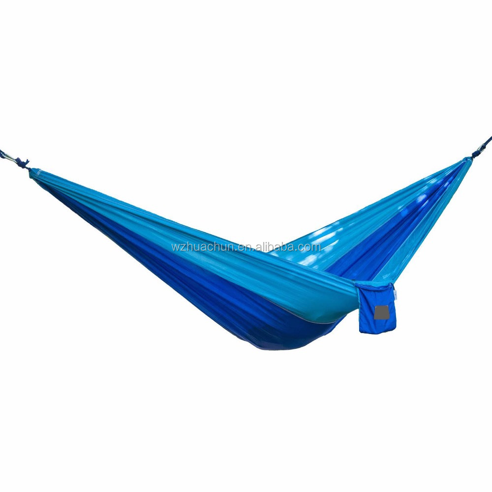 Outdoor Leisure Double 2 Person Cotton/nylon Hammocks Lightweight Nylon Compression Travel Hammock