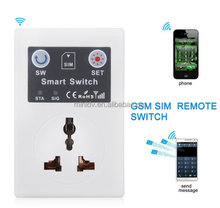 2015 Wholesale GSM smart socket Newest Smart socket SMS/Dial Switch Power ON/OFF Dual Band GSM900/1800MHz