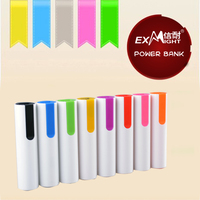 lipstick power bank 2600mah at low price for gift portable charger for mobile phone/samsung/PSP/PDA//Nokia/HTC etc