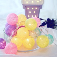 Colorful LED string light, small ball lamp string