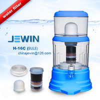 Blue color mineral water purifier pot with 7 grade filteration system