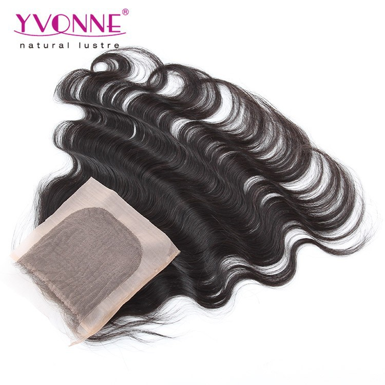 Yvonne virgin brazilian bundles silk base top closure