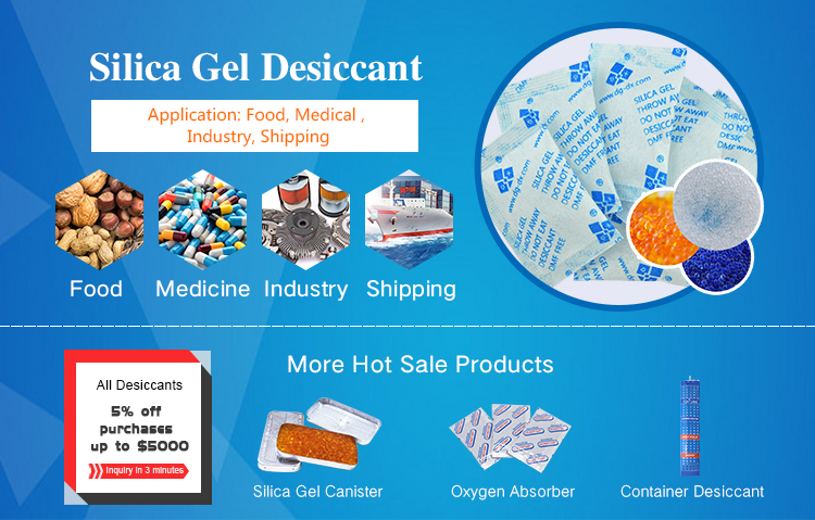 Small Sachet Silica Gel Desiccant 3g/5g/10g/15g/20g for food