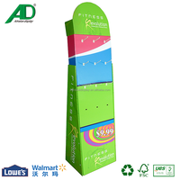 POP Corrugated Cardboard Hook Display for Fitness Products