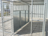 2-Run 5'x10' Dog Kennel with Fight Guard Divider