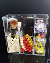 CLEAR ACRYLIC COSMETIC ORGANISER MAKEUP JEWELLERY BOX DISPLAY STAND