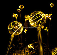 Outdoor decoration fiber optic night lights fire butterfly