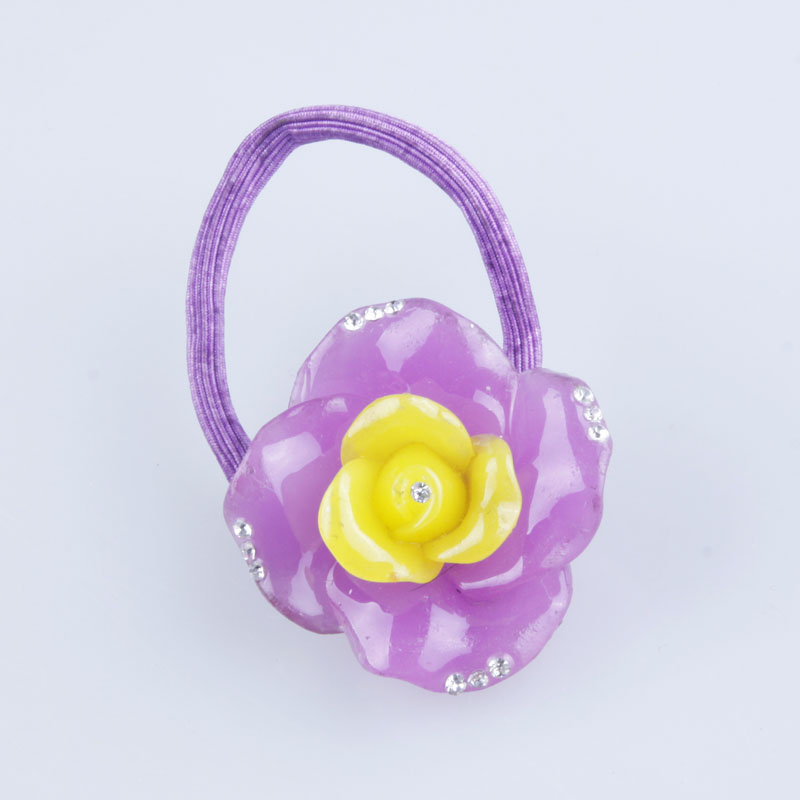 Wholesale fashion kids hair accessories color habbit polyester resin elastic hair band