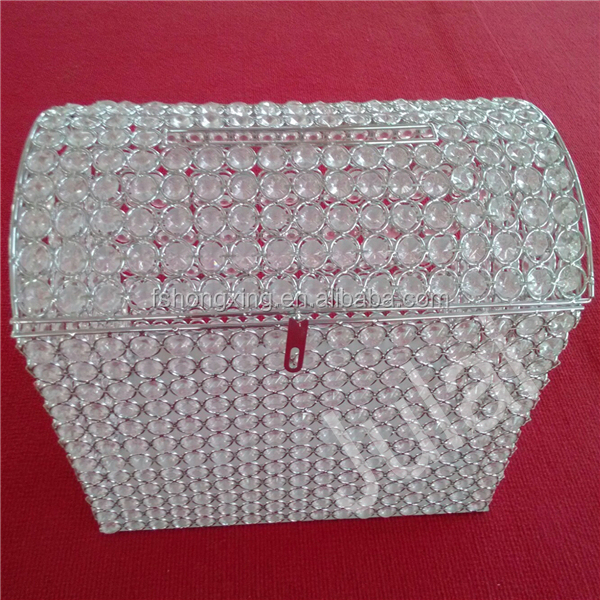Mb 801 wholesale crystal money box holder for wedding view wedding