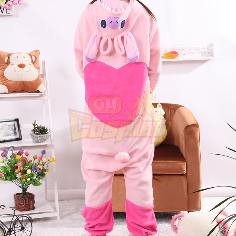 Adult Animal Stitch Polar Fleece Kigurumi Pajamas