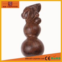 High quality Lucky Gourd 3*3*7cm small Christmas wood ornaments