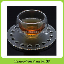 transparent clear plastic table mat round shape acrylic coaster/pad