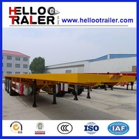 Three Axles Flatbed 40FT Container Cargo Semi Trailer with air bag suspension