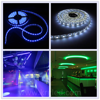Chinese tubes 8 led 12v 5050 rgb smd 5m/roll flexible ultra thin led strip
